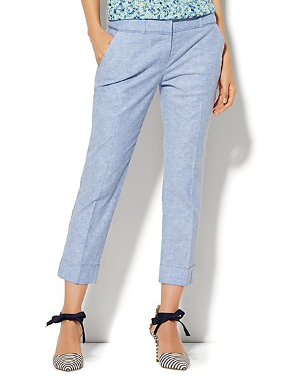 7th Avenue Design Studio Pant - Signature Fit - Cuffed Crop - Tall  - New York & Company