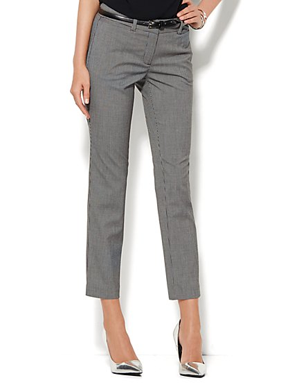 7th Avenue Design Studio Pant - Signature Fit - Slim Ankle - Check Print  - New York & Company