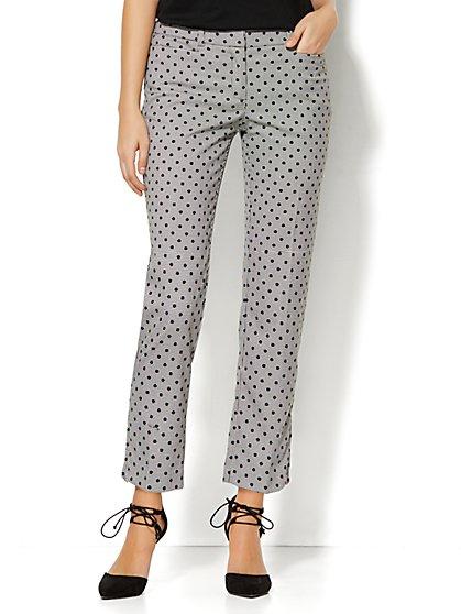 7th Avenue Design Studio Pant - Signature Fit - Slim Ankle - Dot Print - New York & Company