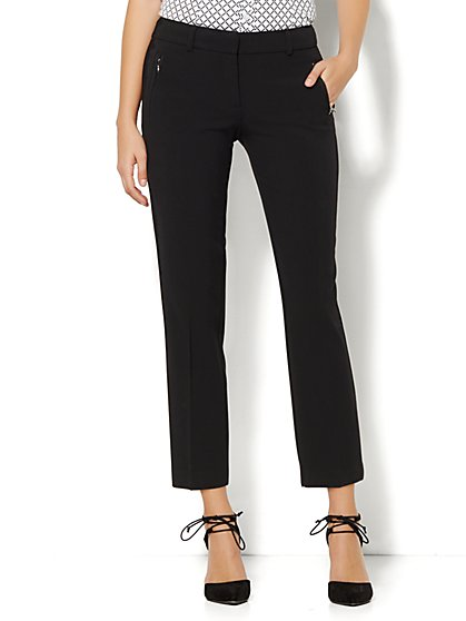 7th Avenue Design Studio Pant - Signature Fit - Slim Ankle - Double Stretch  - New York & Company