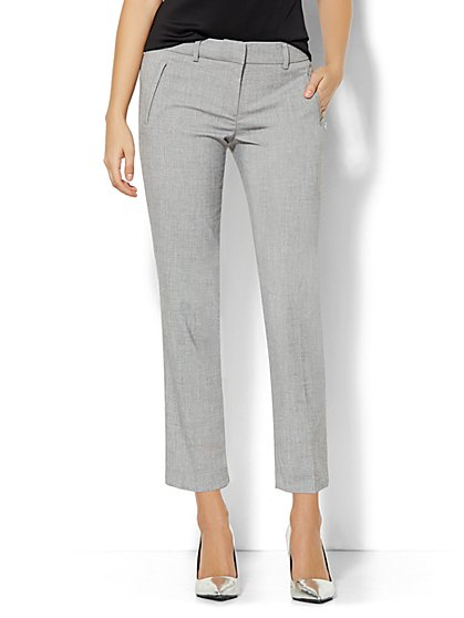 7th Avenue Design Studio Pant - Signature Fit - Slim Ankle - Grey Whispers  - New York & Company