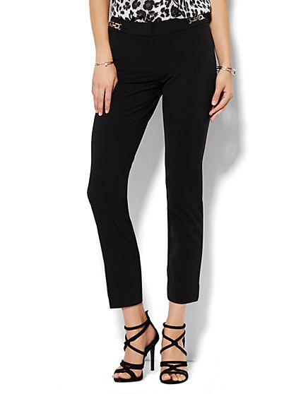 7th Avenue Design Studio Pant - Signature Fit - Slim Ankle - Hardware Detail - Double Stretch - New York & Company