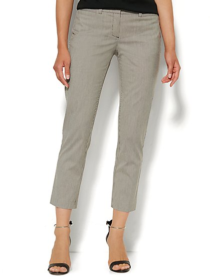 7th Avenue Design Studio Pant - Signature Fit - Slim Ankle Stretch - Pinstripe  - New York & Company