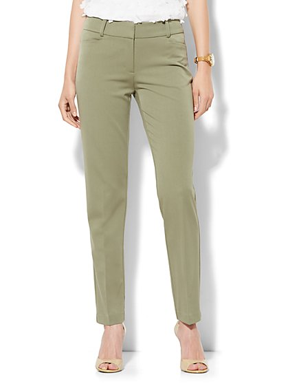 7th Avenue Design Studio Pant - Signature Fit - Slim Ankle - Superstretch - Tall  - New York & Company