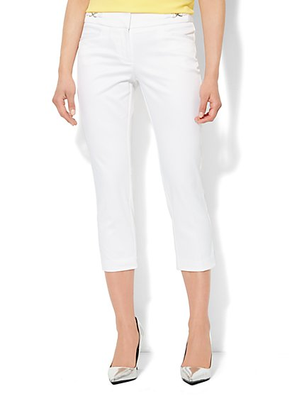 7th Avenue Design Studio Pant - Signature Fit -  Slim Crop - Twill - New York & Company