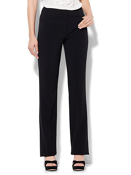 7th Avenue Design Studio Pant - Signature Fit - Straight Leg - Double Stretch - Tall - New York & Company