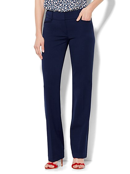 7th Avenue Design Studio Pant - Signature Fit - Straight Leg - SuperStretch - Petite - New York & Company