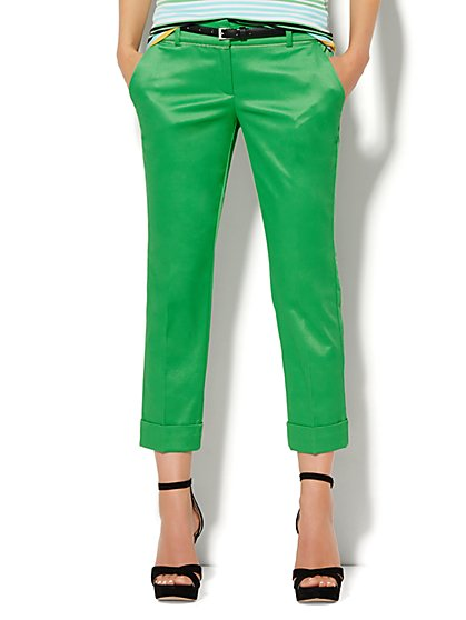 7th Avenue Design Studio Pant - Signature - Universal Fit - Cuffed Crop - Optic Twill - New York & Company