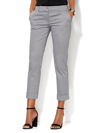 7th Avenue Design Studio Pant - Signature - Universal Fit - Cuffed Crop - Polka Dot - New York & Company
