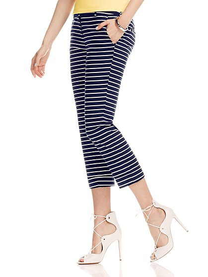 7th Avenue Design Studio Pant - Signature - Universal Fit - Cuffed Crop - Stripe - New York & Company