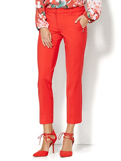 7th Avenue Design Studio Pant - Signature - Universal Fit - Slim Ankle - Fireworks Red  - New York & Company
