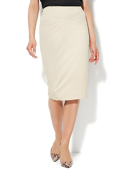 7th Avenue Design Studio - Pencil Skirt - Cotton - New York & Company