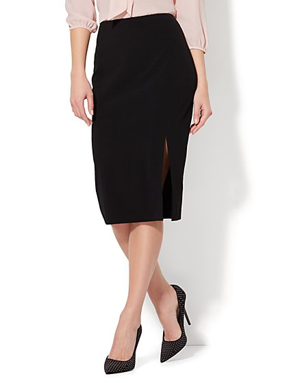 7th Avenue Design Studio Pencil Skirt - Front Slit  - New York & Company