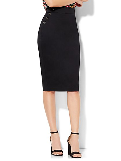 7th Avenue Design Studio Pencil Skirt - Modern Fit - Petite   - New York & Company