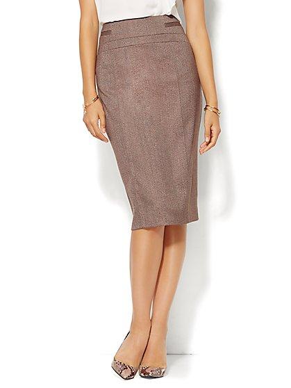 7th Avenue Design Studio - Pencil Skirt - Tweed - New York & Company