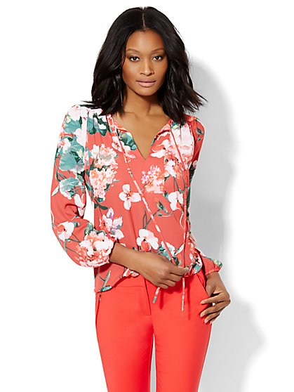 7th Avenue Design Studio - Poet Blouse - Floral  - New York & Company