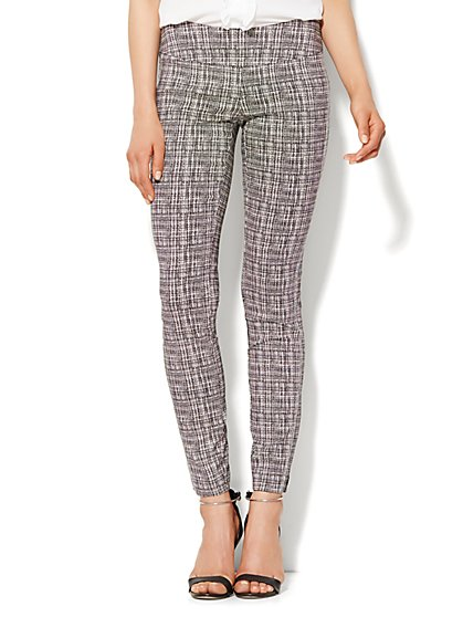 7th Avenue Design Studio - Pull-On Legging - Ultra Stretch - Grid Print - New York & Company