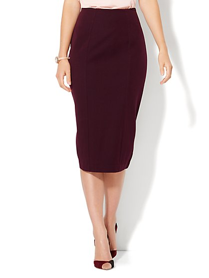7th Avenue Design Studio - Ruffled Pencil Skirt - Signature Fit - SuperStretch - New York & Company