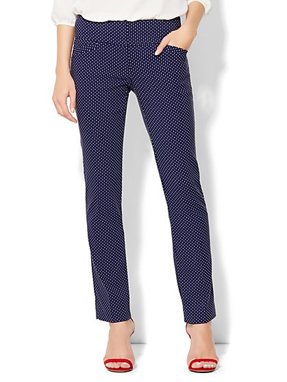 7th Avenue Design Studio Runway Fit Slim Leg Pant -  Grand Sapphire  - New York & Company