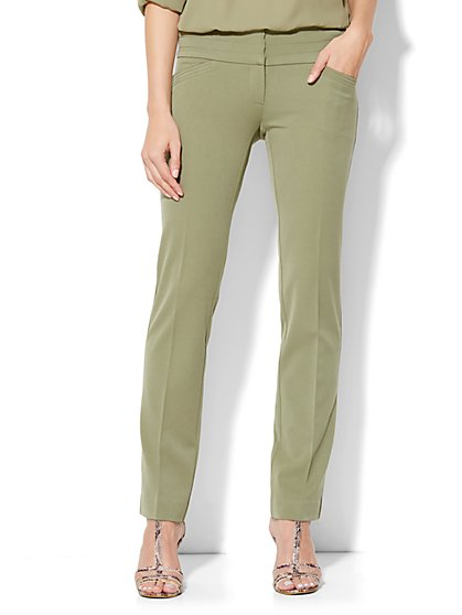 7th Avenue Design Studio Runway Fit Slim Leg Pant  - New York & Company