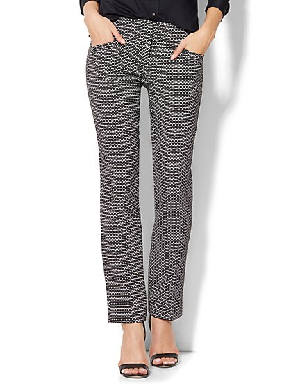 7th Avenue Design Studio Runway - Slimmest Fit - Slim Leg Pant -  Print  - New York & Company