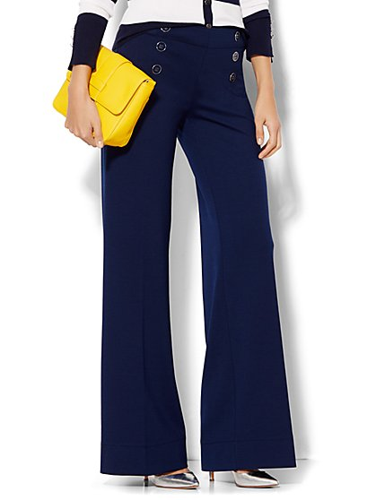 7th Avenue Design Studio - Sailor Knit Pant - Grand Sapphire  - New York & Company