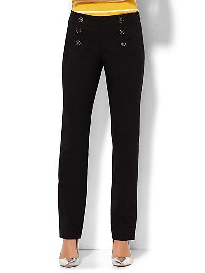 7th Avenue Design Studio Sailor Pant - Runway Fit - Black - New York & Company