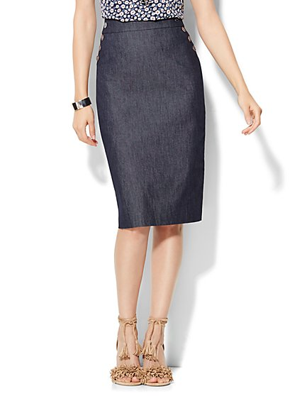 7th Avenue Design Studio - Sailor Pencil Skirt - Grand Sapphire  - New York & Company