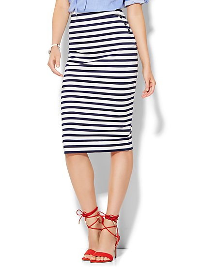 7th Avenue Design Studio - Sailor Pencil Skirt - Stripe  - New York & Company