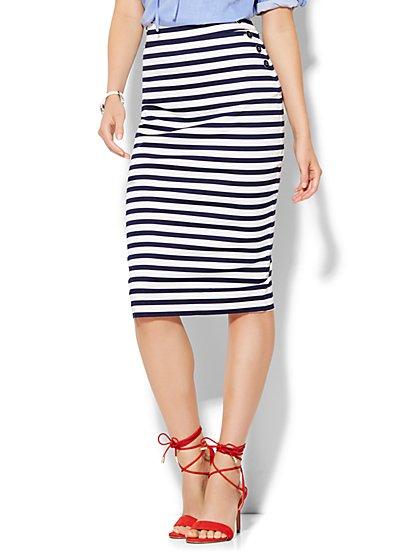 7th Avenue Design Studio - Sailor Pencil Skirt - Stripe  - New York & Company