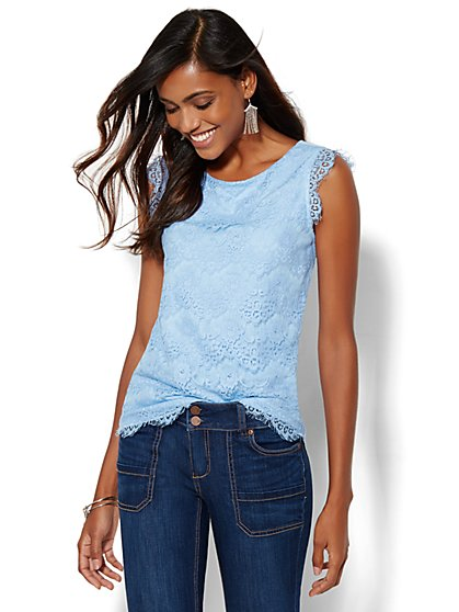 7th Avenue Design Studio - Scalloped Lace Top  - New York & Company