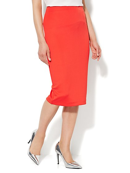 7th Avenue Design Studio - Scuba Pencil Midi Skirt - New York & Company
