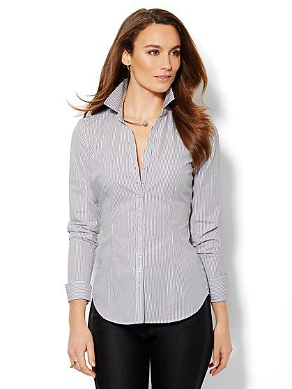 7th Avenue Design Studio - Shimmer Stripe Madison Shirt - New York & Company