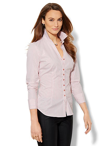 7th Avenue Design Studio - Shimmer Stripe Madison Shirt - New York & Company