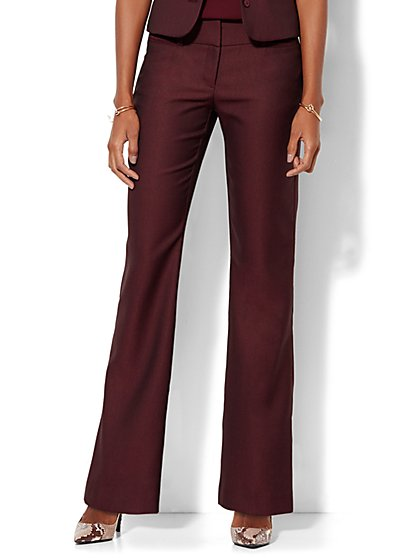 7th Avenue Design Studio - Signature Fit - Bootcut - True Burgundy  - New York & Company