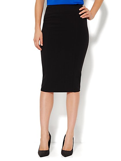 7th Avenue Design Studio - Signature Fit - Pencil Skirt - Solid - New York & Company