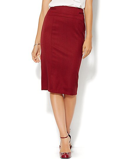 7th Avenue Design Studio - Signature Fit - Pencil Skirt - Tweed - Petite  - New York & Company