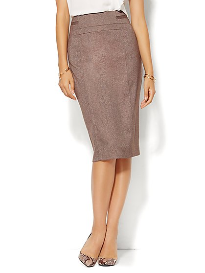 7th Avenue Design Studio - Signature Fit - Pencil Skirt - Tweed - New York & Company