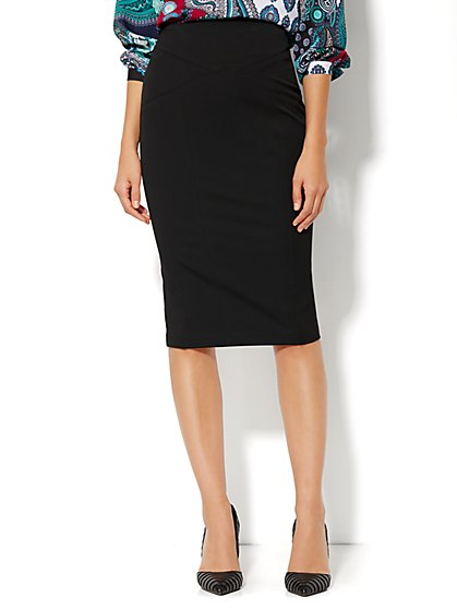 7th Avenue Design Studio - Signature Fit - Seamed Pencil Skirt - SuperStretch - New York & Company