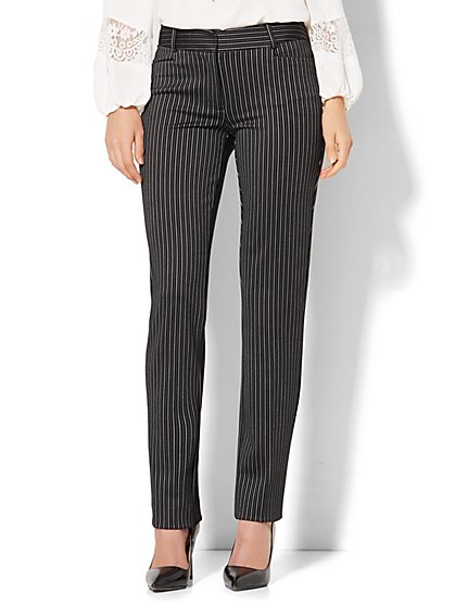7th Avenue Design Studio - Signature - Universal Fit - Slim-Leg Pant - Slim Stripe  - New York & Company