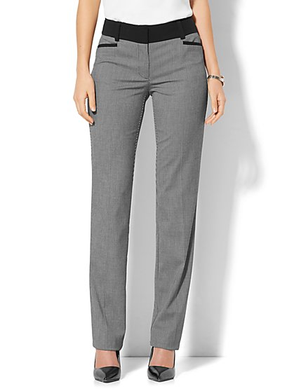 7th Avenue Design Studio - Signature - Universal Fit - Straight-Leg Pant - Black  - New York & Company