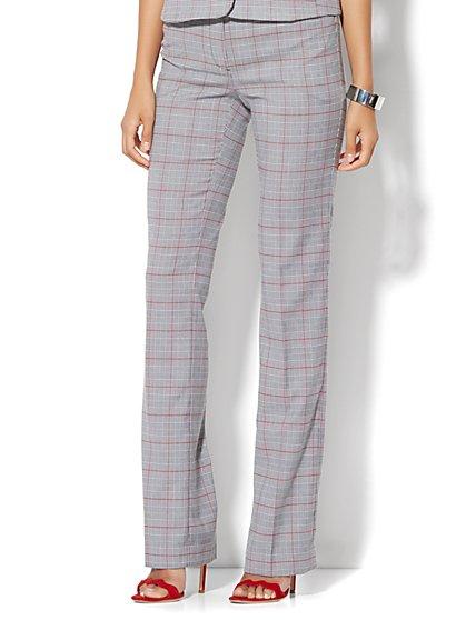 7th Avenue Design Studio - Signature - Universal Fit - Straight-Leg Pant - Campfire Red - Tall  - New York & Company