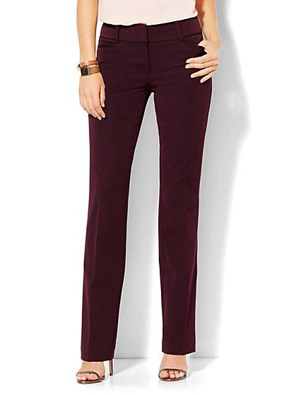 7th Avenue Design Studio - Signature - Universal Fit - Straight-Leg Pant - SuperStretch - Tall  - New York & Company