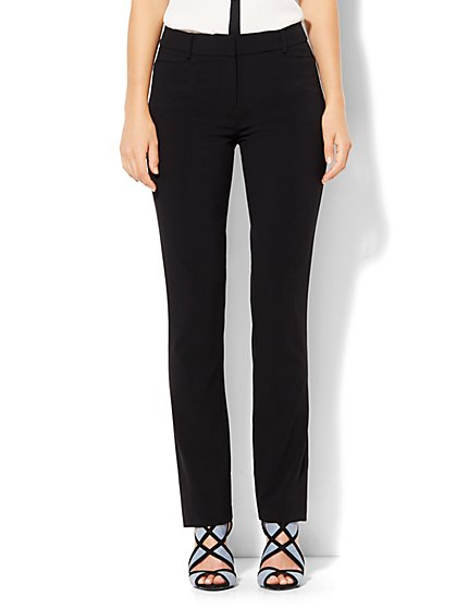 7th Avenue Design Studio - Slim-Leg Pant - Signature - Universal Fit - Double Stretch - Tall  - New York & Company