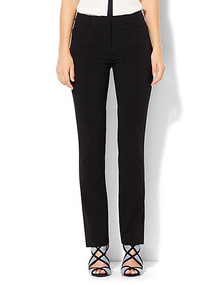 7th Avenue Design Studio - Slim-Leg Pant - Signature - Universal Fit - Double Stretch - Tall  - New York & Company