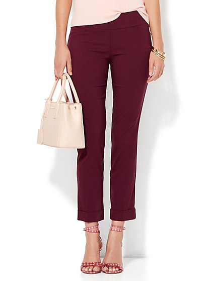 7th Avenue Design Studio - Slim-Leg Pull-On Ankle Pant - Modern - Leaner Fit - Ultra Stretch - New York & Company
