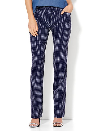 7th Avenue Design Studio - Straight-Leg Pant - Signature - Universal Fit - Grand Sapphire  - New York & Company