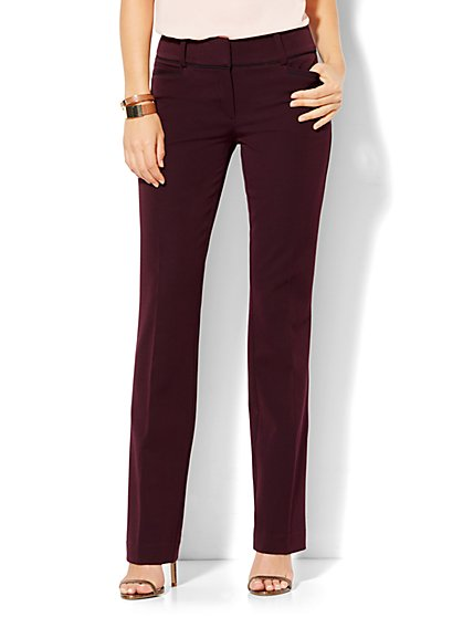 7th Avenue Design Studio - Straight-Leg Pant - Signature - Universal Fit - SuperStretch - Tall  - New York & Company