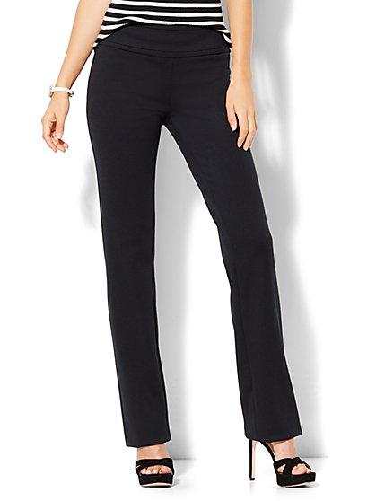 7th Avenue Design Studio - Straight-Leg Pull-On Pant - Signature - Universal Fit -  Ponte - Tall  - New York & Company