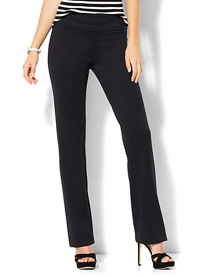 7th Avenue Design Studio - Straight-Leg Pull-On Pant - Signature - Universal Fit - Ponte  - New York & Company